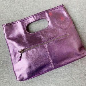 Valerie Stevens Metallic Pink Purse